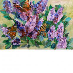 Бабочки в сирени